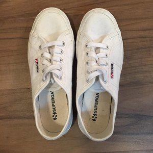Superga white canvas sneakers size US 5-1/2